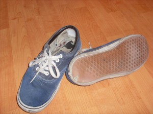 shoes de skateur crades