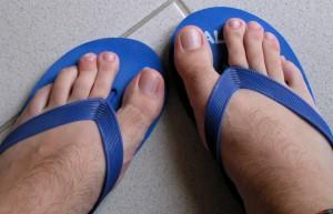 pieds en tongs