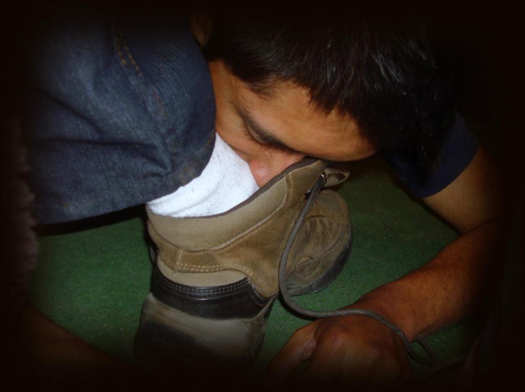bon soumis aux pieds